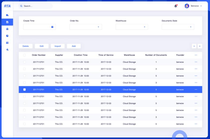 后台订单管理系统界面设计