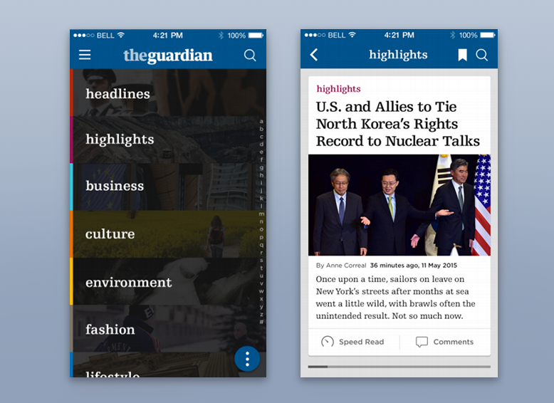 国外创意新闻APP界面设计